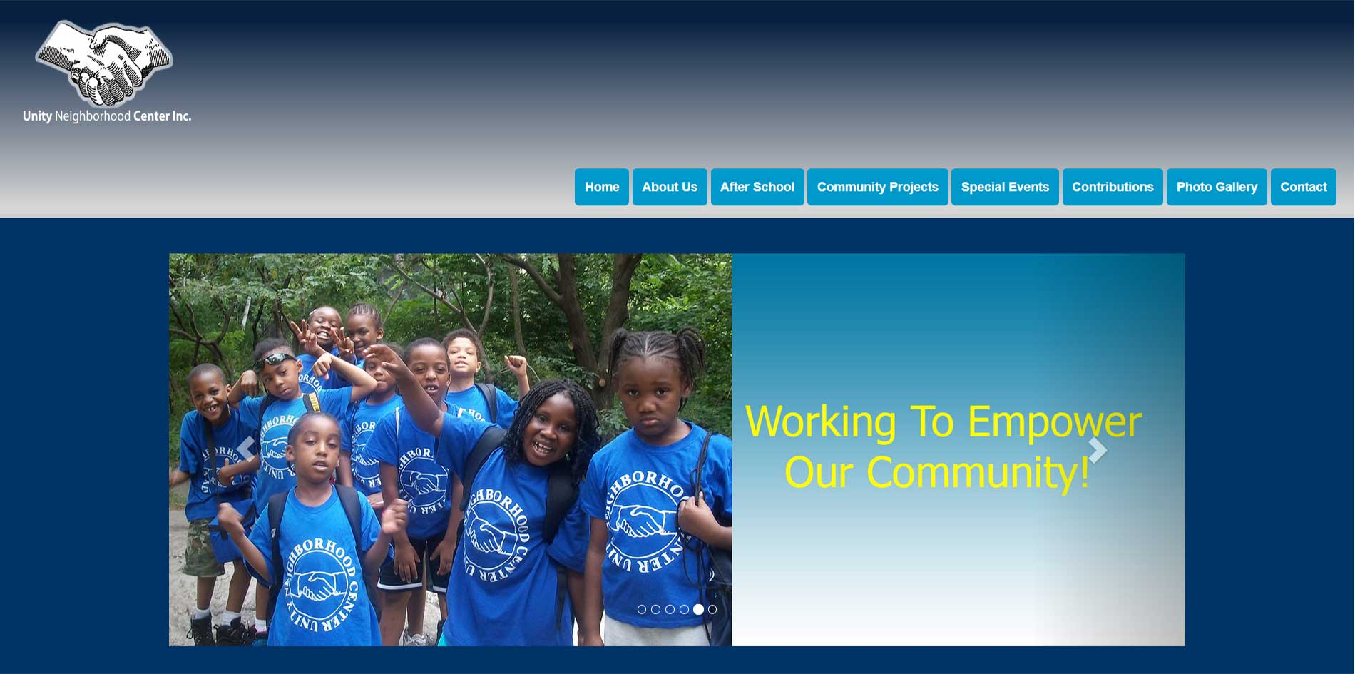 Unity Neighborhood Center Website